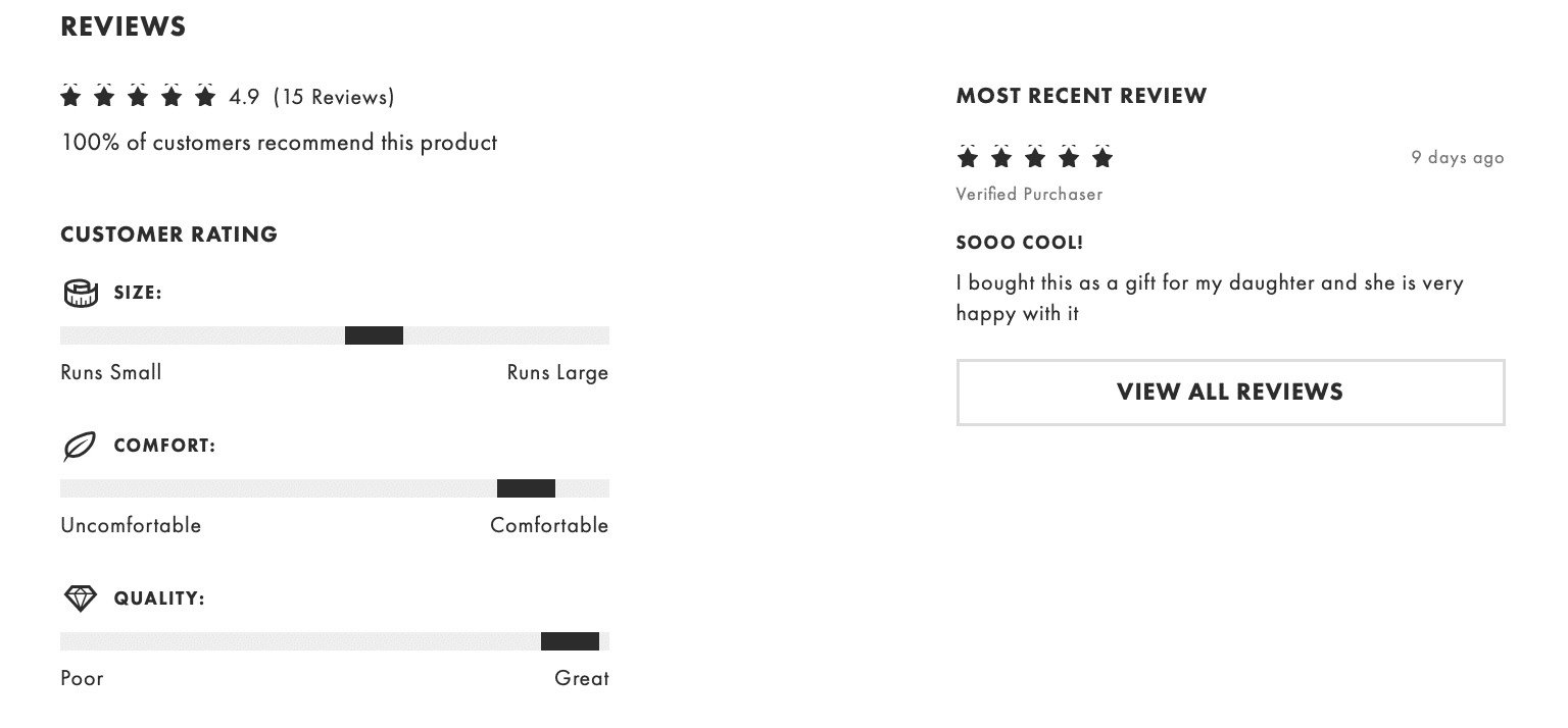 Ecommerce product pages optimization asos review