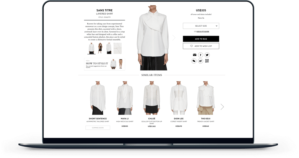 Fashion Personalisation Example