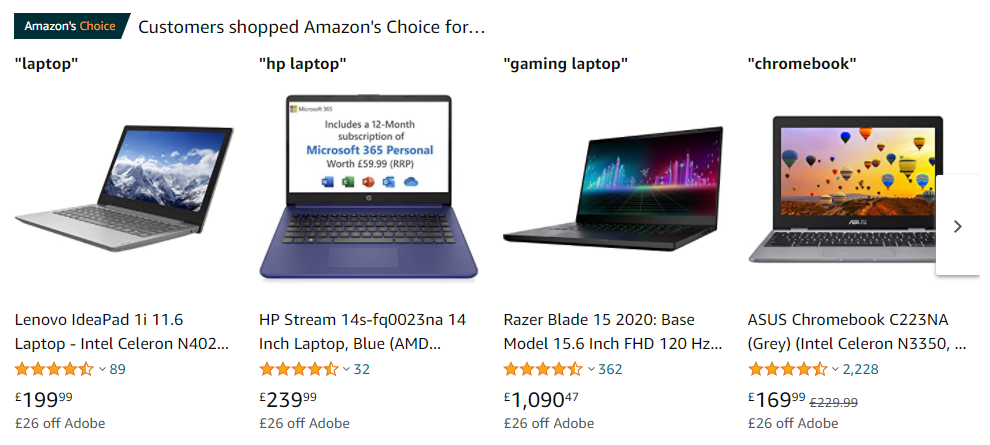 Amazon Category Page