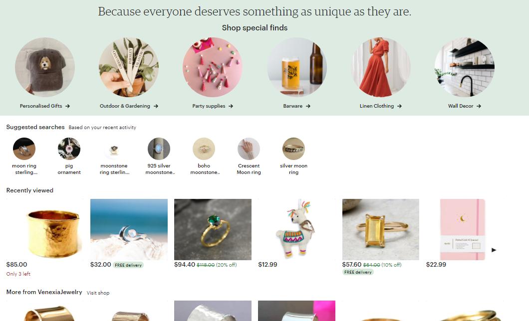 Etsy Website